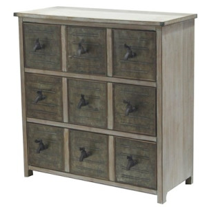 Country Garden 3 Drawer Chest W/ Faucet Hardware